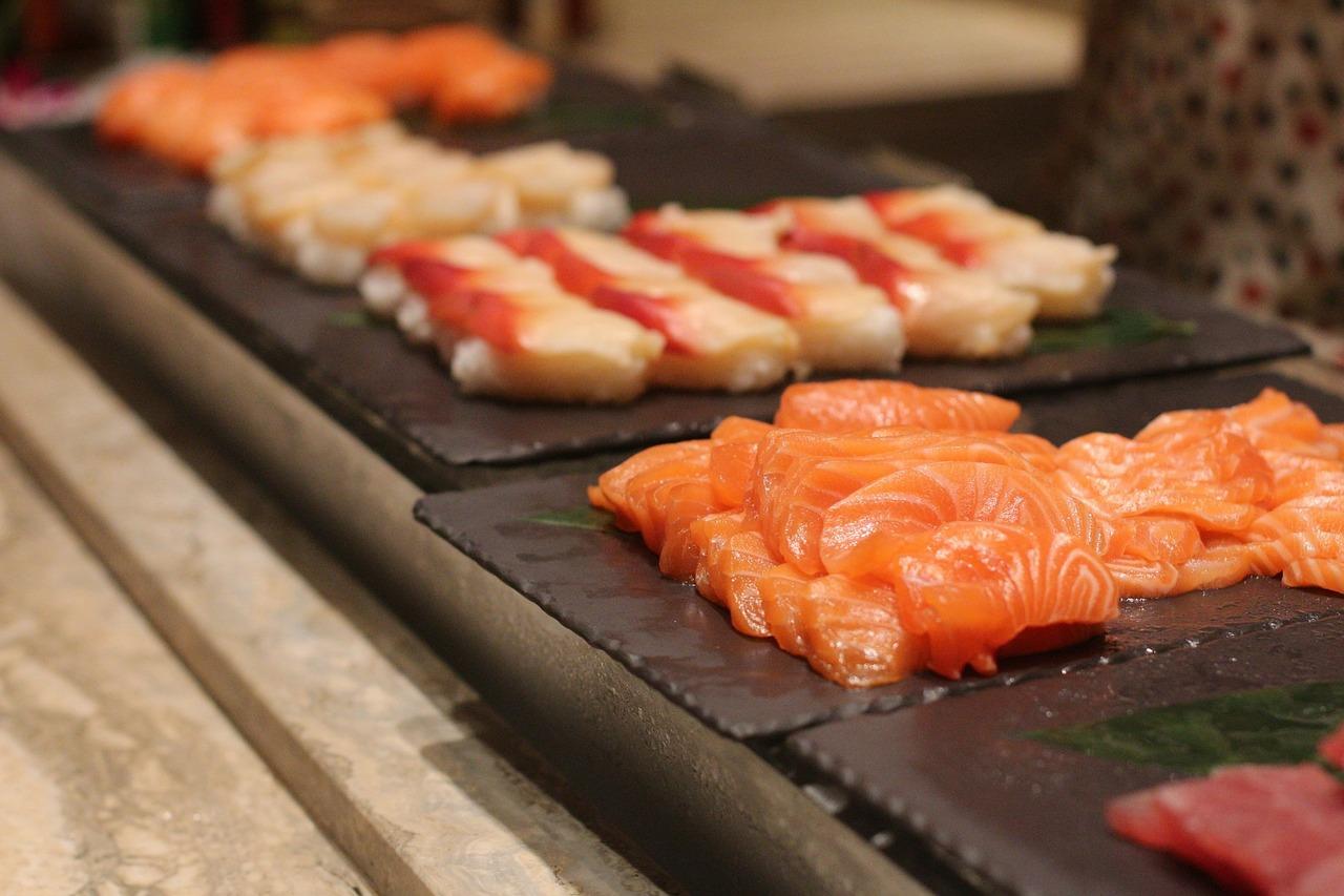 sashimi, food, fresh