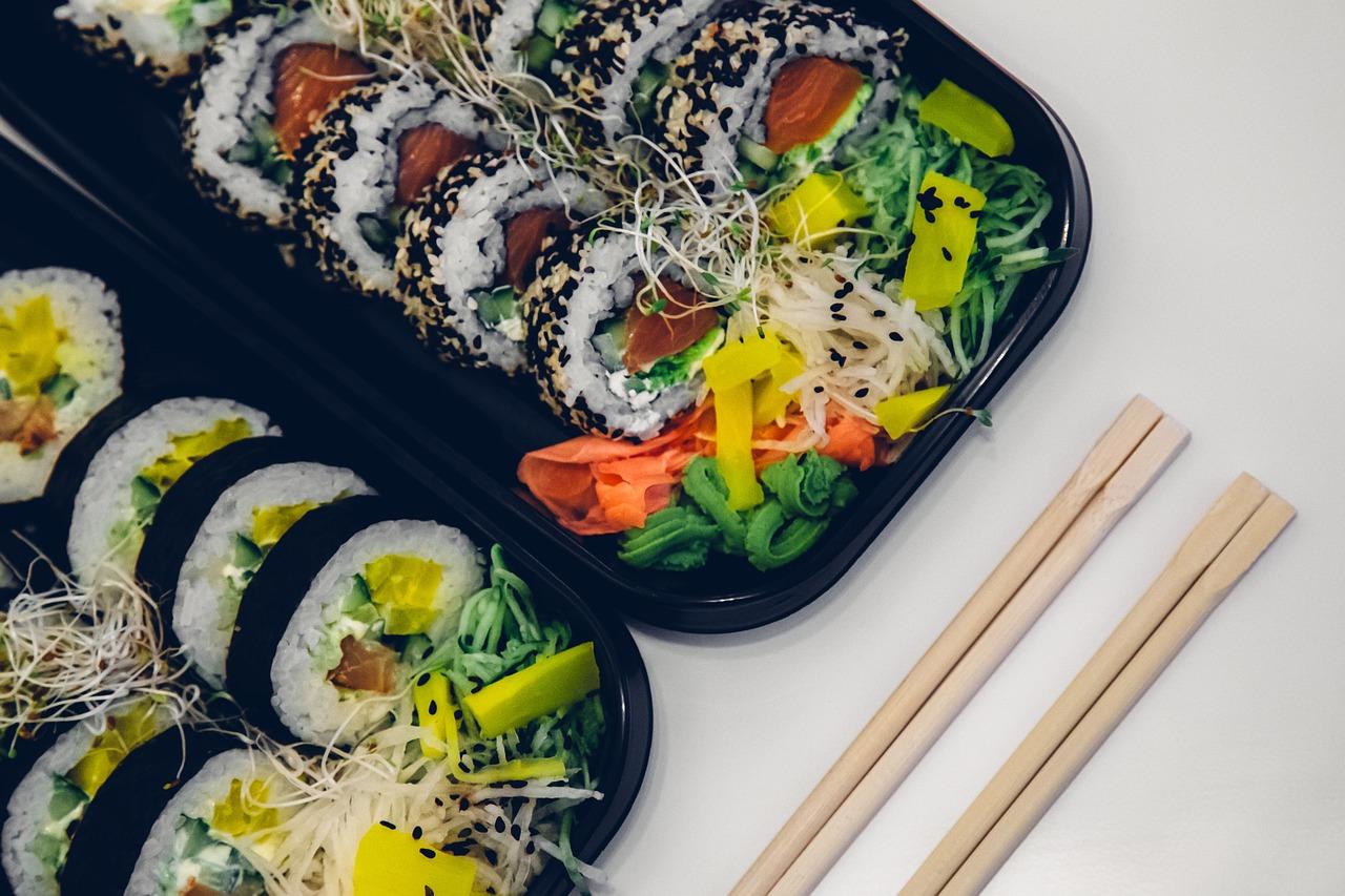 sushi, food, fish